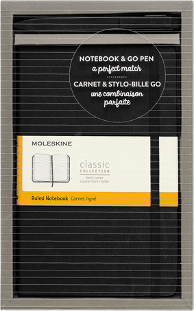 Classic Notebook and Go Pen Set