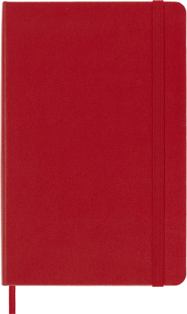 Cuaderno Classic NOTEBOOK MED RUL SCARLET RED HARD