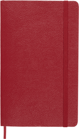 Classic Notebook LC NB LEATHER LG RUL SFT OP.BOX BORD.RED