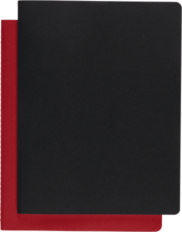 Cahier Subject CAHIER JNLS SUBJECT XXL BLK CRB.RED